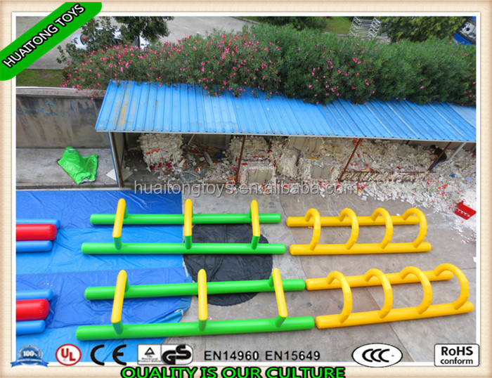 Good quality best popular inflatable sports obstacles/ inflatable fantasy run obstacle course sport games for adults palying