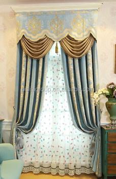 Intérieur Grandeur Classique Style Provincial Français Bleu Clair Et ...