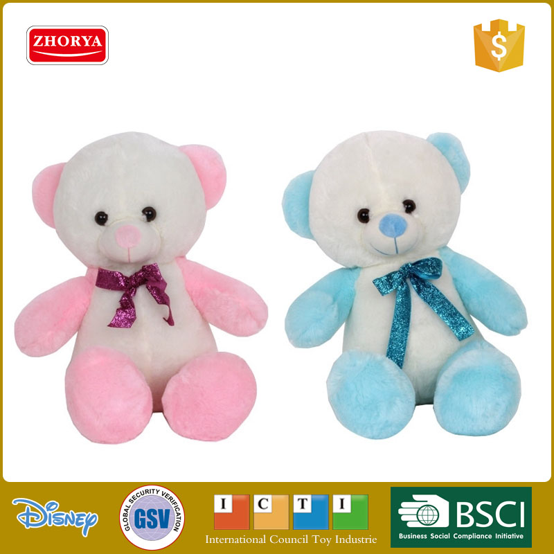 Cute design 35 CM bear plush toy plush stuffed bear with bowknot kid's animal plush bear toy for playing