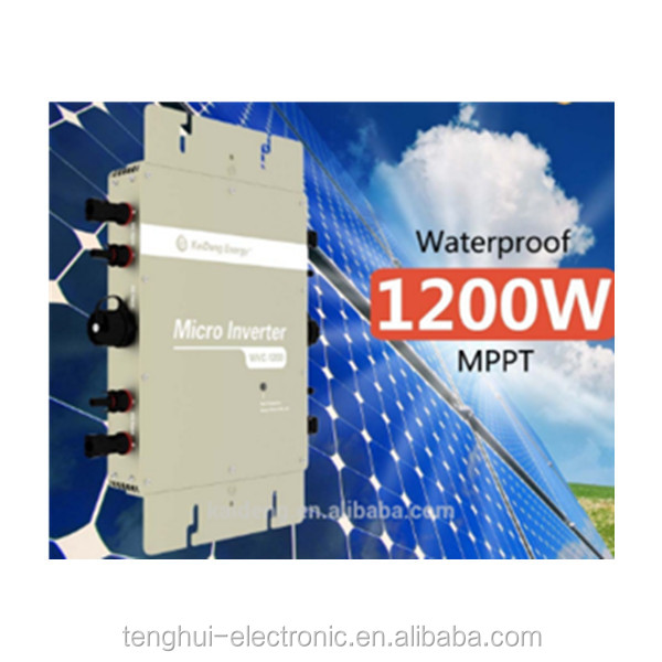 Golden Supplier IEC CSA TUV certificated Pure sine wave 1200w micro solar inverter for sale