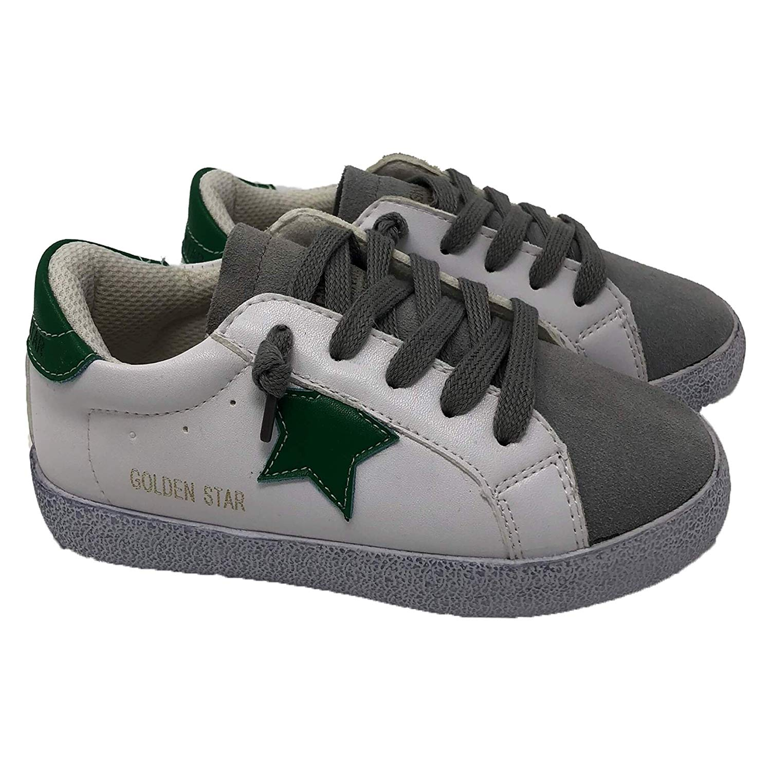 03d979b7a24c Get Quotations · Fashion Fur Ur Kids Sneakers Star Green