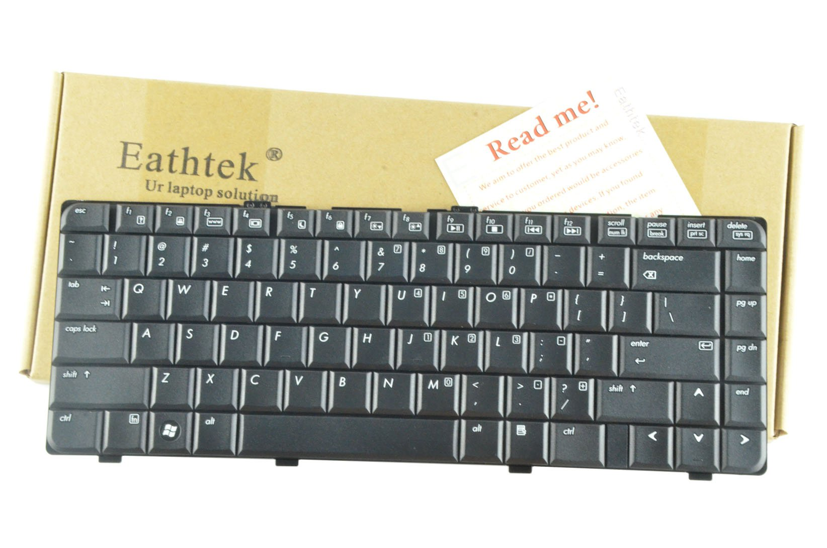 Eathtek Replacement Keyboard for HP Pavilion DV6000 DV6100 DV6200 Black US Layout, Compatible Part Number 431414-001,431415-001,431416-001