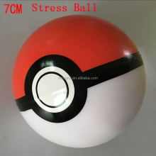 Wholesale Cheap Pokemon Ball Colorful Kids Toy PU Pokeball Stress Ball