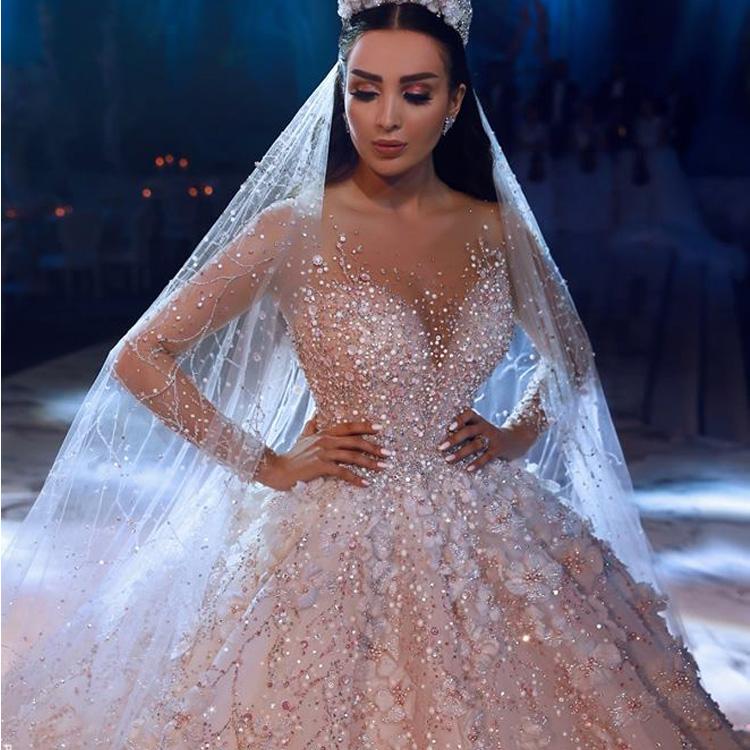 Promosi Luweiya Elegan Bride Gaun Gaun Sederhana Off Bahu Pernikahan Gaun Ball Gown untuk Pengantin untuk Pesta Pernikahan