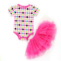 Baby girl clothes 2016 newborn baby clothing body cotton baby rompers girls TUTU dress set body