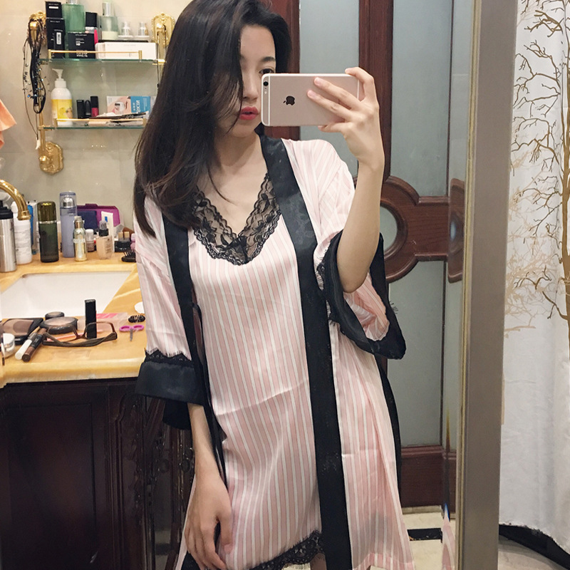 Bonvatt Customized silk nightgown ,sexy women nightgown ,long robe nightgown