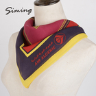 90cm*90cm soft hand feeling colorful custom printed square 100% silk scarves ladies