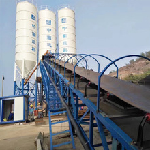 40 cbm per hour production belt conveyor type Concrete Mixing Station Price with control room and AC