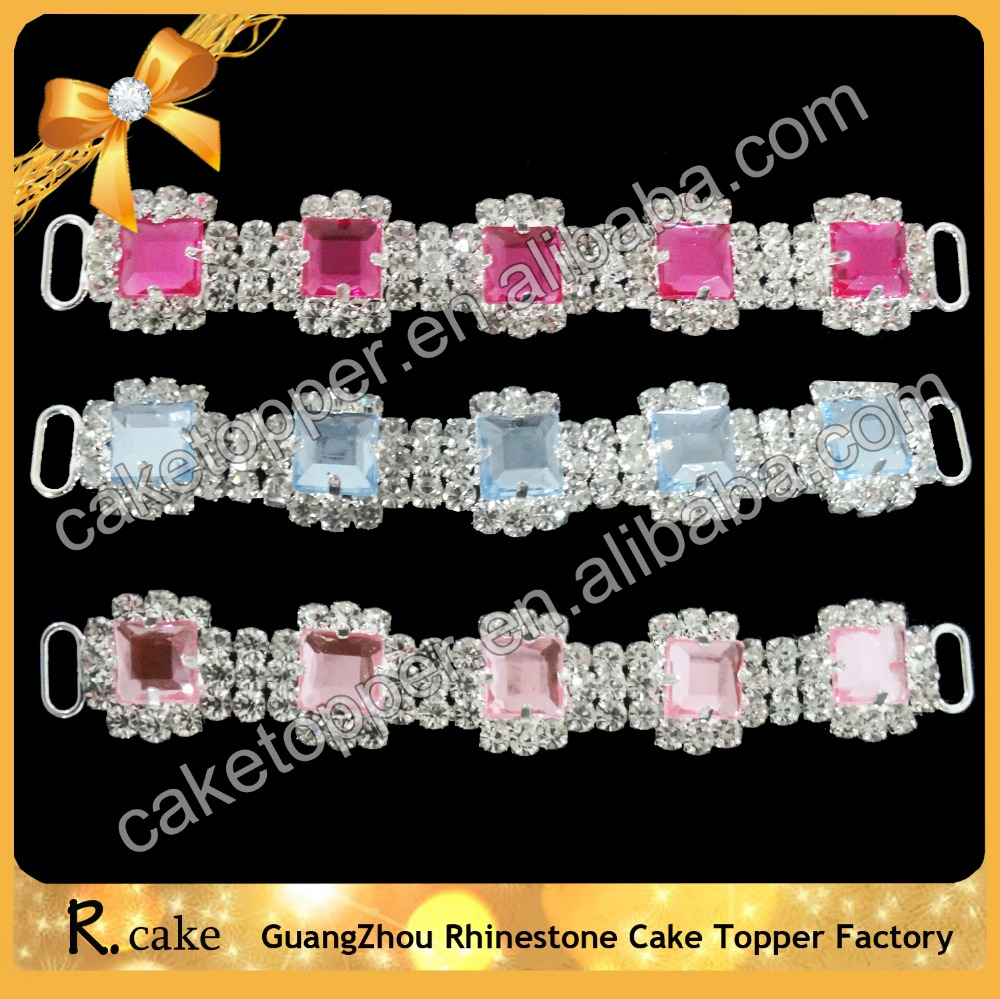 Colorful Alloy Swimsuit Buckle Glass Bikini Connectors Rhinestone for Swimwear Buckle Accessories
