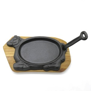 cow shape cast iron steak plate/sizzler pan