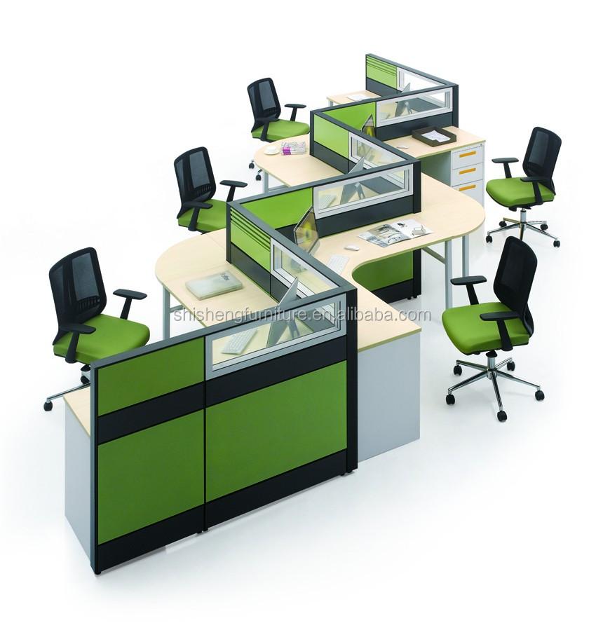 Modular Office Furniture 5 Person