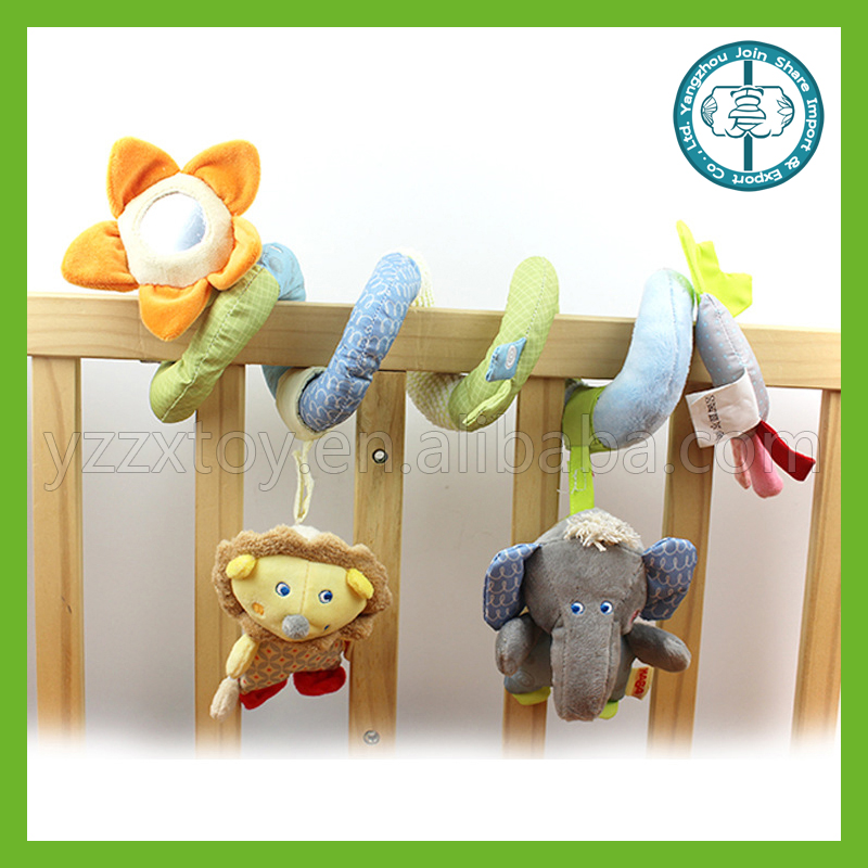Baby cloth bed around the lion elephant bed around the ring rattles haha mirror paper pendant removable toys