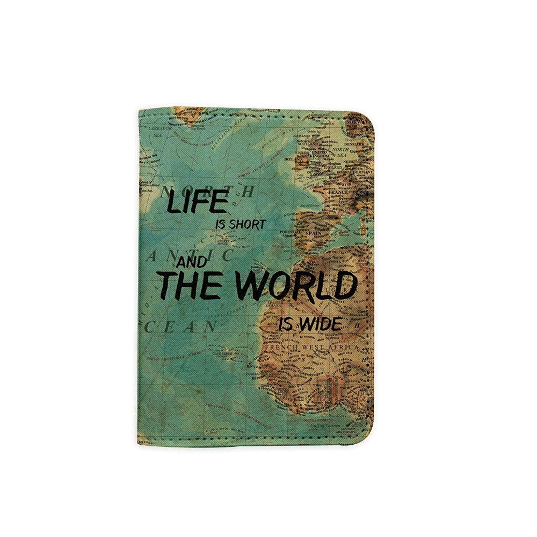 Ancient Old World Map Customized Cute Leather Passport Holder Passport Covers Passport Wallet/_SUPERTRAMPshop