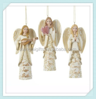 christmas hanging resin angels decorations