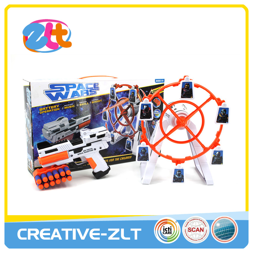Hot sell table game plastic target shooting toys with sound