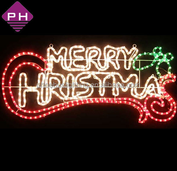 Merry Christmas Rope Light Motif Hohoho - Buy Merry Christmas Rope ...