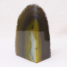 Cheap natural shape black dyed polished agate bookend