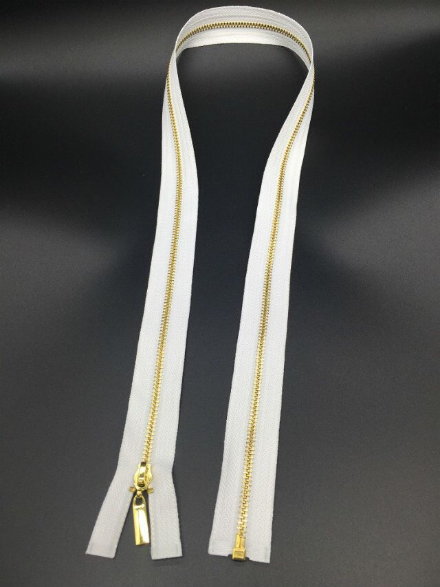 high quality 3# white metal zipper open end