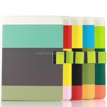 Best sell stripe leather tablet case strong defender card slot kickstand case for iPad air 2