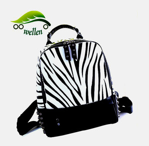 trending hot products soft leather zebra backpack bag wholesale