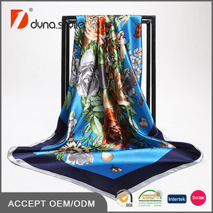 90x90cm High Quality Ladies Polyester Scarf Manufacturers in China