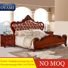 New design bedroom furniture sets luxury classical italian wooden beds models adult