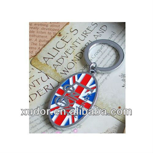 METAL LONDON KEY CHAIN COUNTRY FLAG
