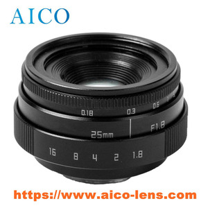 Interchangeable prime APSC 25mm F1.8 C mount mirroless digital camera manual focal lens for DSLR camera