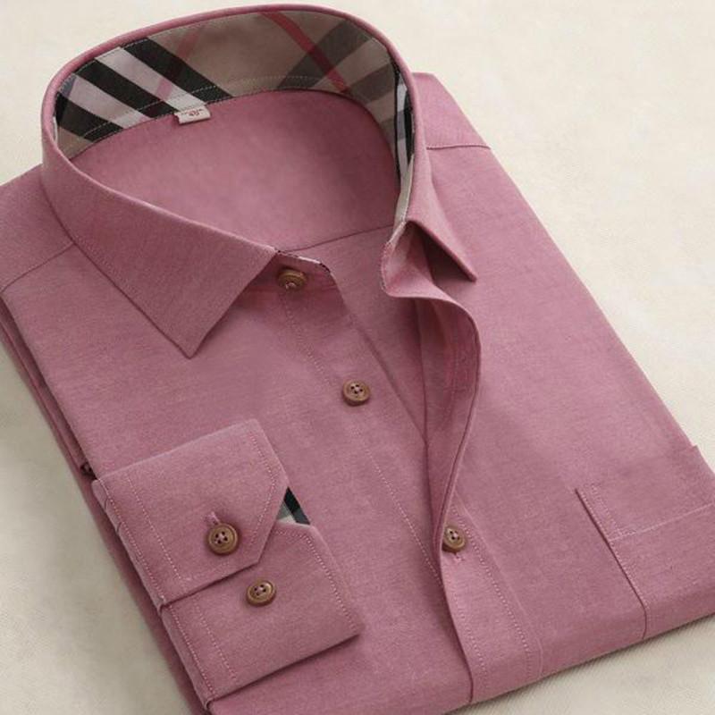Бренд мужской футболки 2015 новое поступление высокого класса люкс качество мужчины бизнес рубашки плед с длинным рукавом мужской социальные