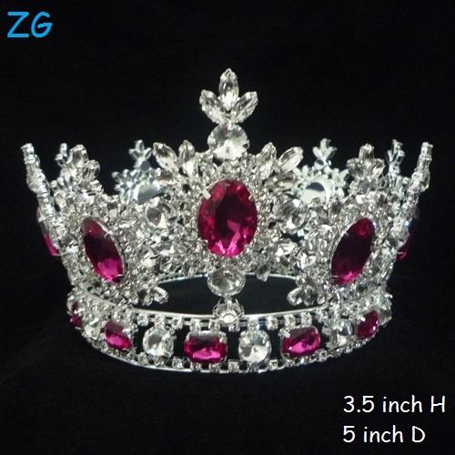 Di lusso rosa tiara di diamanti principessa corona diadema for Tiara di diamanti