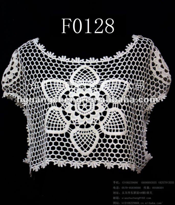 Verano Crochet De Encaje De Malla Superior Patrones Gratis - Buy ...
