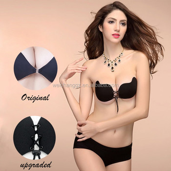 25095aaaba new style V shape string bra for bridal backless strapless bra with rope