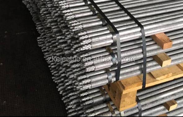Material de acero galvanizado de puesta a tierra de barras - Varillas de acero precio ...