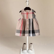 5d6c38ca1ad Populaire Enfants Robe D été Coton Chasuble Pour Bébé Enfants Fille Robe