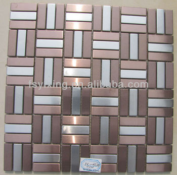 Mi29 Decorative Kitchen Backsplash Brick Style Brushed Silver And Antique  Copper Color Stainless Steel Metal Mosaic Tile Prices - Buy Brick Metal ...