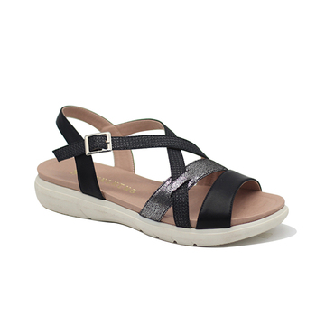 5b367d2feed4 Leather Casual Flat Ladies Sandals Popular Women Shoes - Buy ...