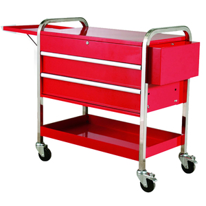 LC-TR2602IR Double Layers Red Power coating Garage hand serving trolleys carts