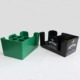 Restaurant Storage Box Organizer Green 6 Compartments Bar Drink Caddy