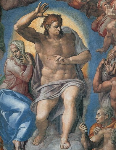 Reproduction painting-Handmade of '' The Last Judgement, Christ the Judge, 1541 by Michelangelo ''