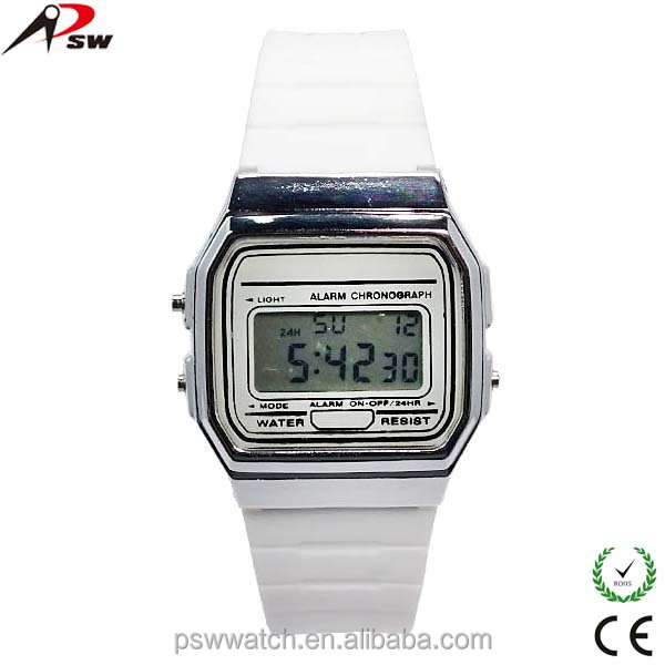 Thin sports watch for young water resistant digital fashion watch