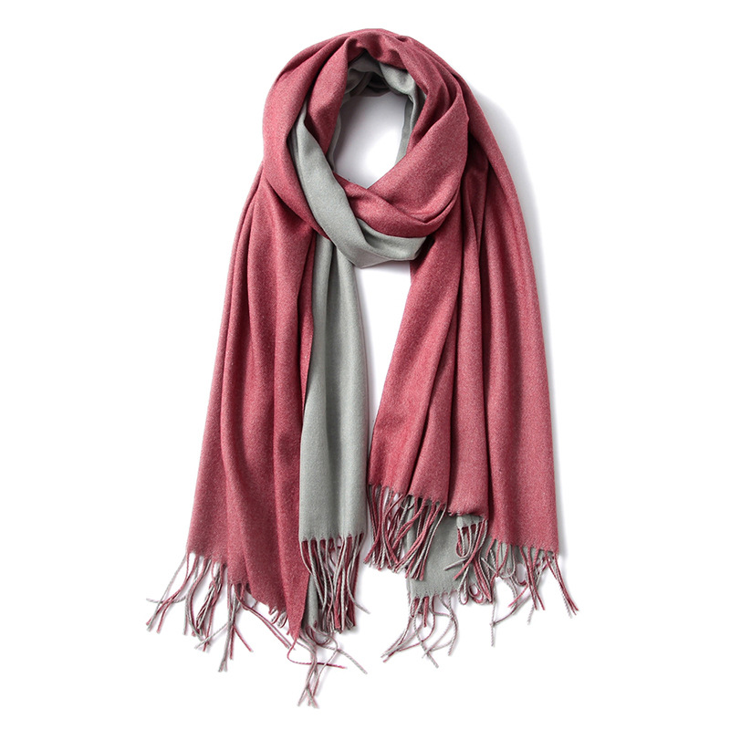 Hot Selling Wholesales European Fashion <strong>Scarf</strong> Double-sided Pure Color Imitated Cashmere Shawl Reversible <strong>Scarf</strong>