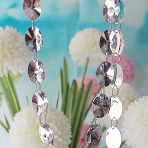 .China DIY Spacer Clear Acrylic Crystal Lovely Beads Garland Diamond Strand Wedding Decor / Decoracion Para Arbol En Boda10m