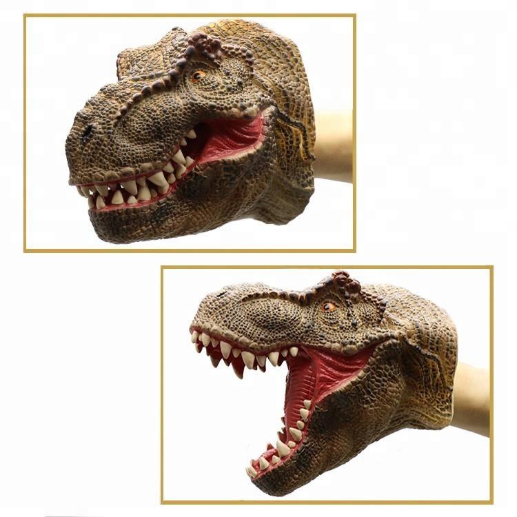 The Best Animal Dinosaur Hand Puppet Tyrannosaurus Head Model Realistic Real Life Toys Kids Gift Tyrannosaurus Head Model Toys For Kids To Win Warm Praise From Customers Dolls & Stuffed Toys