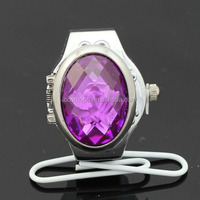ladies finger ring watches purple diamond ring watch kids watch Product Description