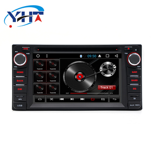 YHT 6.2'' touch screen 2din android 7.1 car multimedia dvd player for toyota hilux