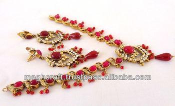 Bollywood Fashion Victorian Jewelry Set-victorian Diamond Jewelry-indian  Victorian Jewelry -indian Imitation Jewelry Wholesale - Buy Indian Ethnic