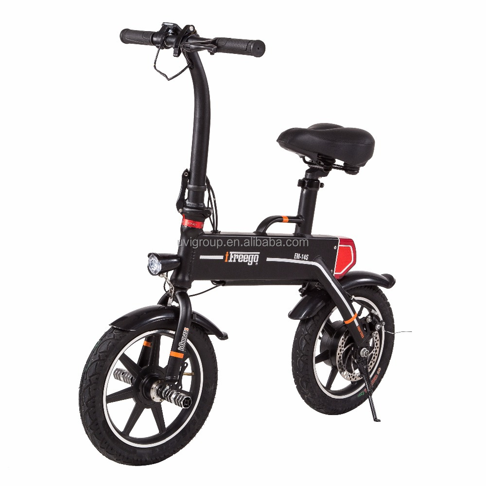 2017 Best quality stealth battery 14 inch 2 wheel e-bike folding electric bicycle
