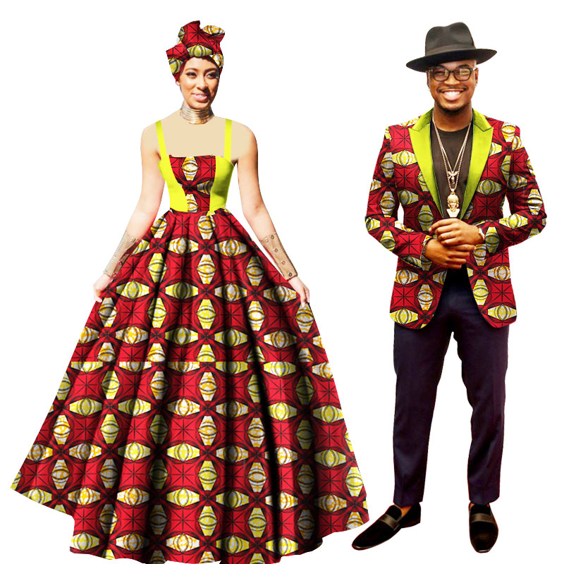 6e84c999023 Latest Woman Dresses  Man Suits Party Traditional African Kitenge New  Designs WYQ75