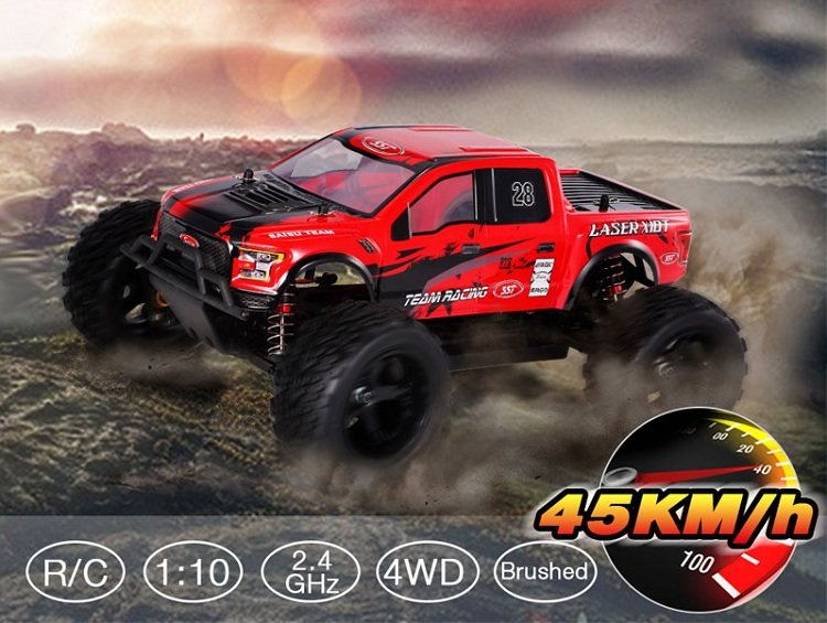 sst new style 1 / 10 scale 4wd rc racing car 1928v2 off road electric monster truck