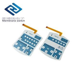 Fashion Designer Keys Membrane Switch Integrated Control Panel with plastic backplate housing for Industrial Control